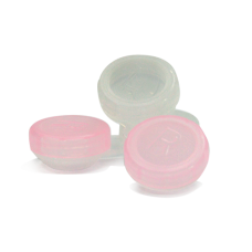 Контейнер контактных линз бело-розовый
